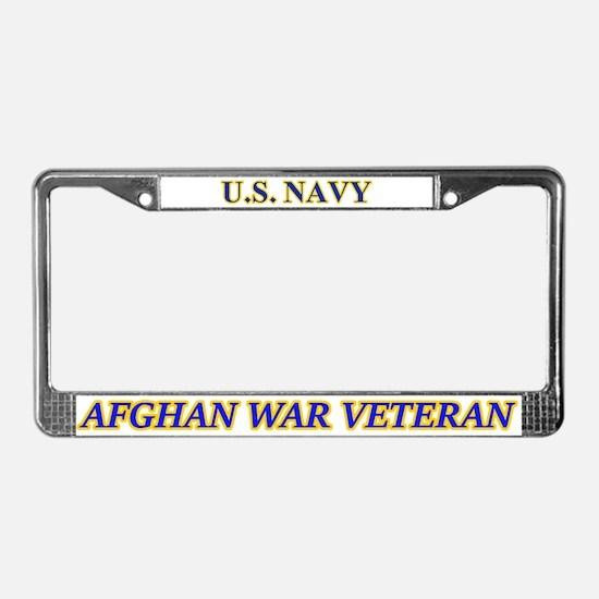 Us Navy Afghan War Veteran License Plate Frame