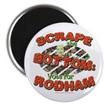 Scrape Bottom anti-Hillary Magnet