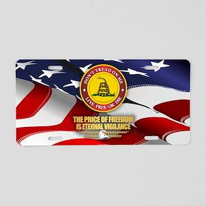 Eternal Vigilance Aluminum License Plate