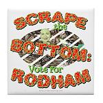 Scrape Bottom anti-Hillary Tile Coaster