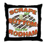 Scrape Bottom anti-Hillary Throw Pillow