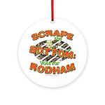 Scrape Bottom anti-Hillary Ornament (Round)