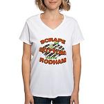 Scrape Bottom anti-Hillary Women's V-Neck T-Shirt