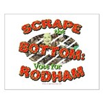 Scrape Bottom anti-Hillary Small Poster