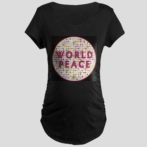 World Peace Circles The Globe 1a Maternity T-Shirt