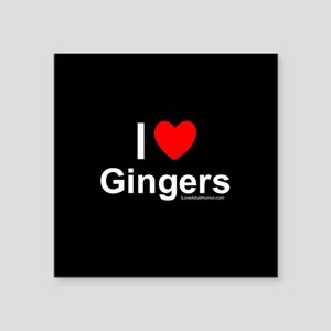 "Gingers Square Sticker 3"" x 3"""