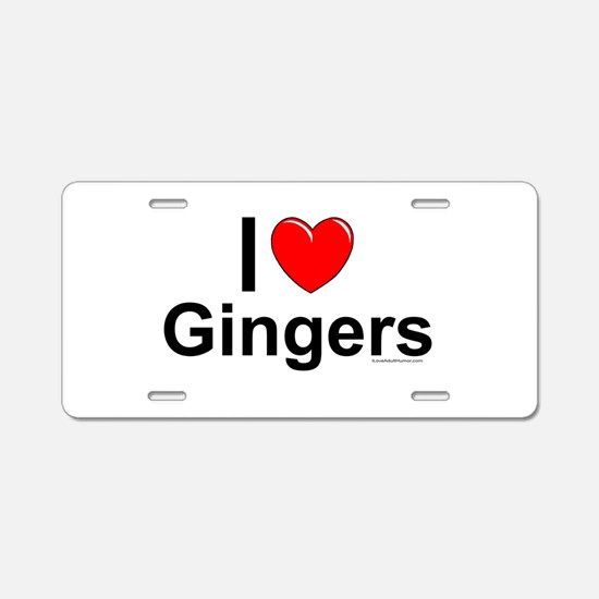 Gingers Aluminum License Plate