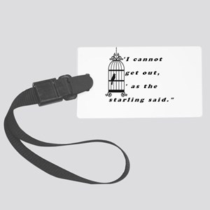Mansfield Park Quote Large Luggage Tag