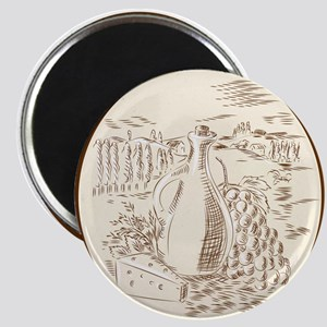 Olive Oil Jar Cheese Tuscan Countryside Etching Ma