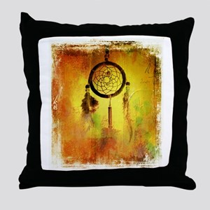 Dreamcatcher grunge Throw Pillow