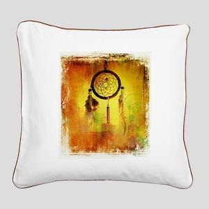 Dreamcatcher grunge Square Canvas Pillow