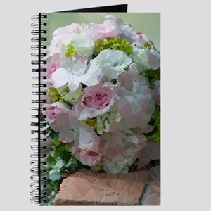 Pink Bridal Floral Low Poly Journal