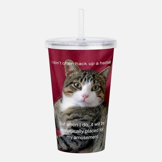 Cat Meme Acrylic Double-wall Tumbler