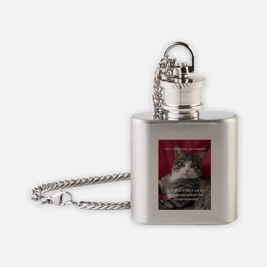 Cat Meme Flask Necklace
