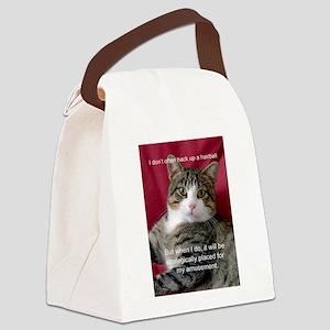 Cat Meme Canvas Lunch Bag