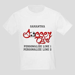 Soccer Girl Custom Kids Light T-Shirt