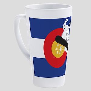 Snowboarding Colorado 17 oz Latte Mug