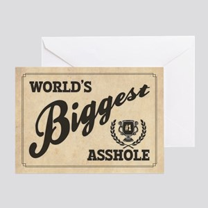 World's Biggest Asshole Greeting Card