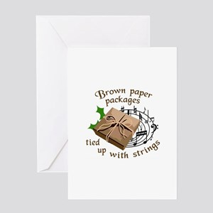 Brown Paper Packages Greeting Cards