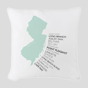 NJ SHORE Woven Throw Pillow
