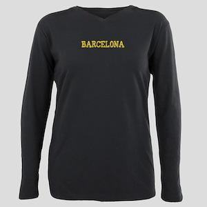 Barcelona Plus Size Long Sleeve Tee