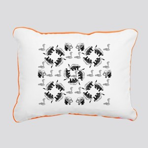 Honey Badger & Cobra Rectangular Canvas Pillow