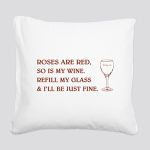 ROSES ARE RED Square Canvas Pillow