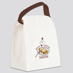 Makes Life Sweeter Canvas Lunch Bag