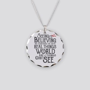 Seeing is Believing Necklace Circle Charm