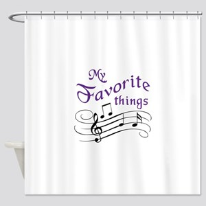 My Favorite Things Shower Curtain