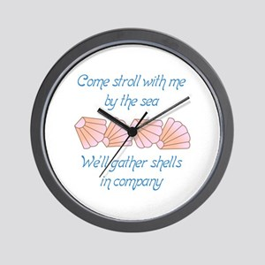 Gather Seashells Wall Clock