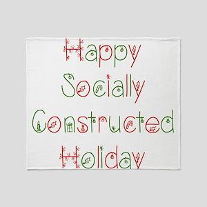 Sociology Christmas Socially Constructed Throw Bla