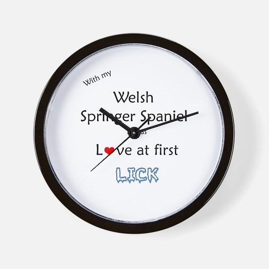 Welsh Springer Lick Wall Clock