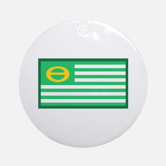 Ecology Flag Round Ornament