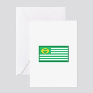 Ecology Flag Greeting Cards