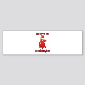 i brake for cardiologists Red Ora Sticker (Bumper)
