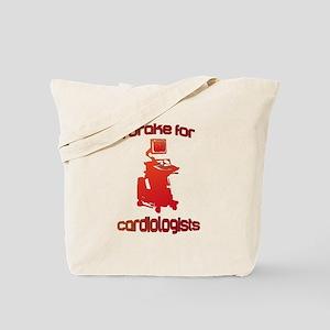 i brake for cardiologists Red Orange Tote Bag