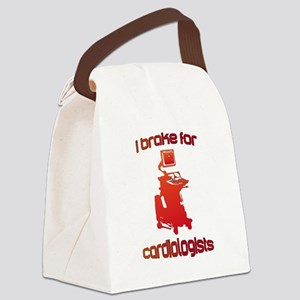 i brake for cardiologists Red Ora Canvas Lunch Bag