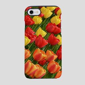 Colorful spring tulip garden iPhone 8/7 Tough Case