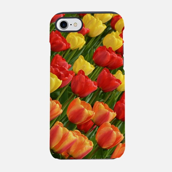 Colorful spring tulip garden iPhone 8/7 Tough Case