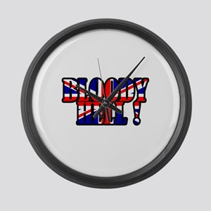 Bloody Hell! Large Wall Clock