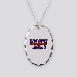 Bloody Hell! Necklace Oval Charm