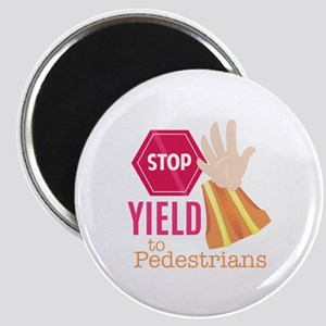 Yield To Pedestrians Magnets