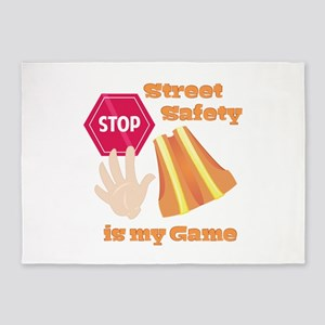Street Safety 5'x7'Area Rug