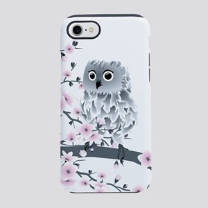 Cute Owl And Cherry Blossoms iPhone 8/7 Tough Case