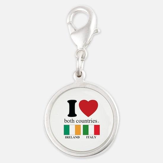 IRELAND-ITALY Silver Round Charm