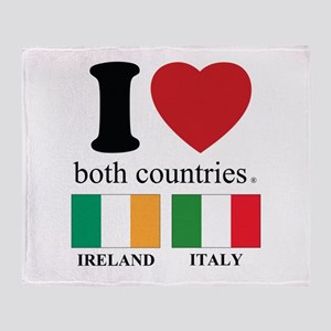 IRELAND-ITALY Throw Blanket