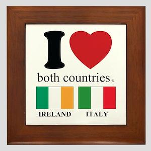 IRELAND-ITALY Framed Tile