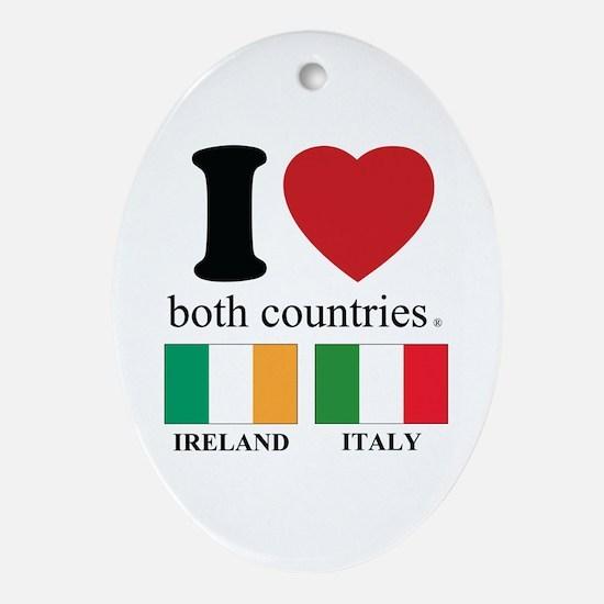 IRELAND-ITALY Oval Ornament