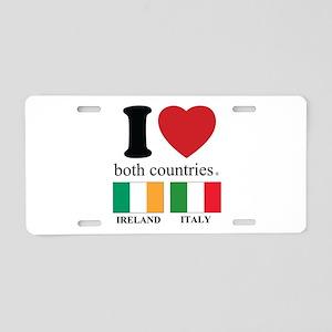 IRELAND-ITALY Aluminum License Plate
